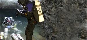Overhead Environment Mine Diver